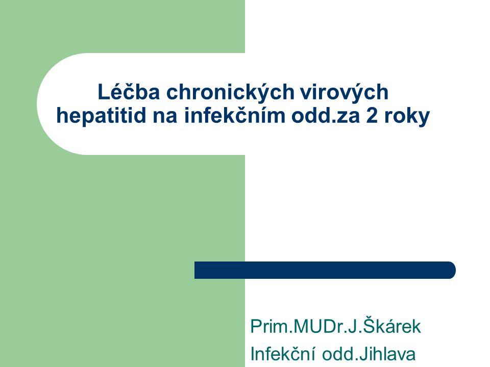 Léčba chronických virových hepatitid na infekčním odd.za 2 roky Prim.MUDr.J.Škárek Infekční odd.Jihlava