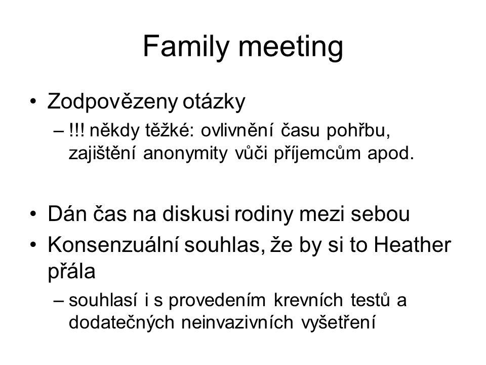 Family meeting Zodpovězeny otázky –!!.