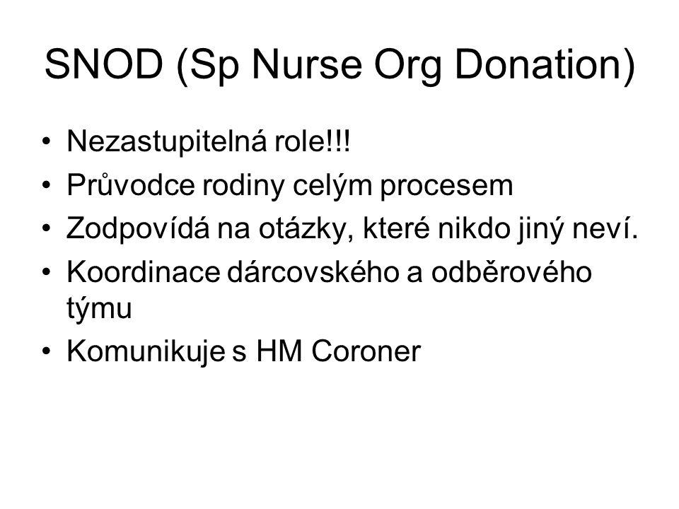 SNOD (Sp Nurse Org Donation) Nezastupitelná role!!.