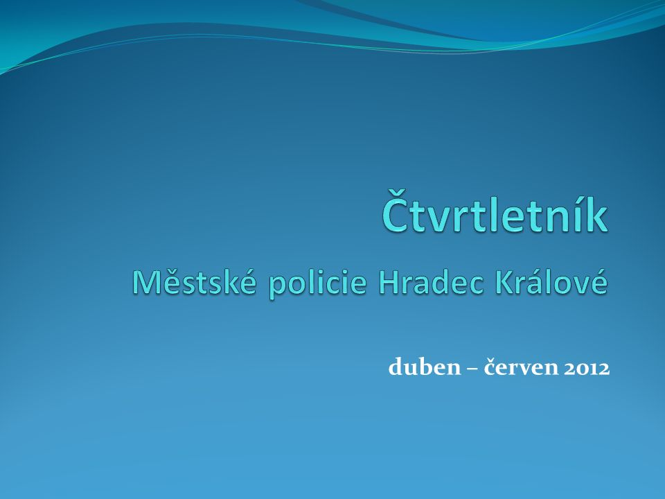 V druhém čtvrtletí roku 2012 bylo MP řešeno: Přestupků: 5 691 Trestných činů: 31 Řízení v opilosti nebo pod vlivem drog: 8 Zadržení hledaných osob: 13 Řešených cyklistů: 335 Řešených chodců: 4 Převoz na záchytku: 98 Trestné činy postupuje městská policie k dořešení Policii ČR.