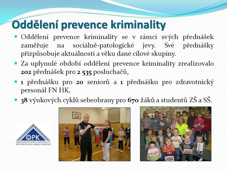 Oddělení prevence kriminality Oddělení prevence kriminality se v rámci svých přednášek zaměřuje na sociálně-patologické jevy. Své přednášky přizpůsobu
