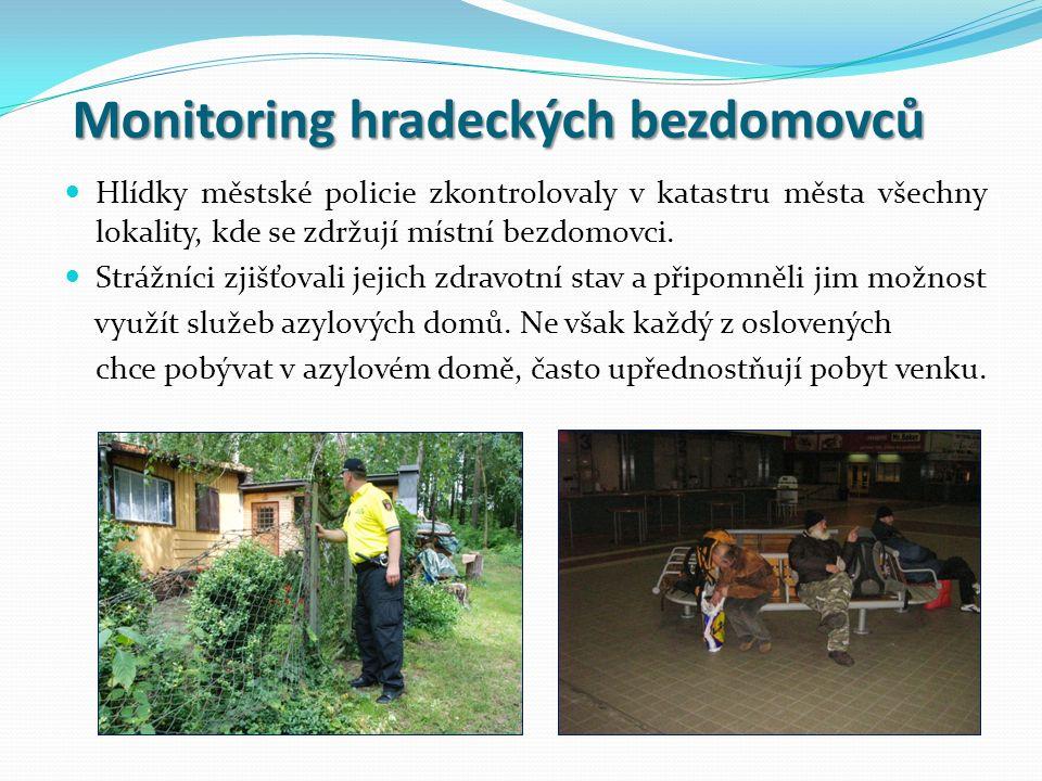 Hlídky městské policie zkontrolovaly v katastru města všechny lokality, kde se zdržují místní bezdomovci.