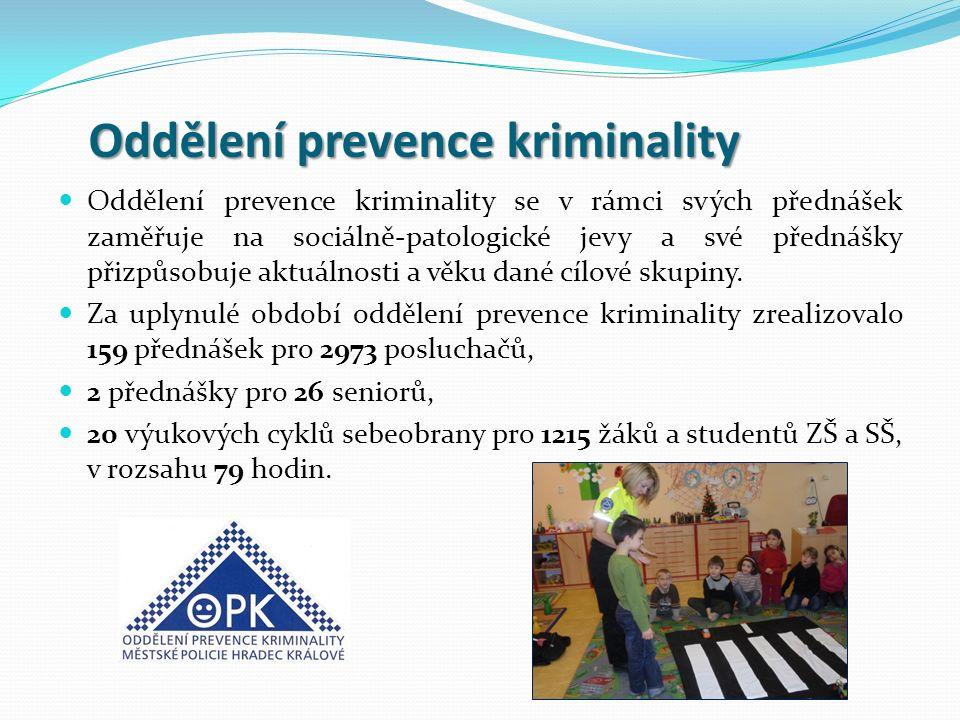 Oddělení prevence kriminality Oddělení prevence kriminality Oddělení prevence kriminality se v rámci svých přednášek zaměřuje na sociálně-patologické