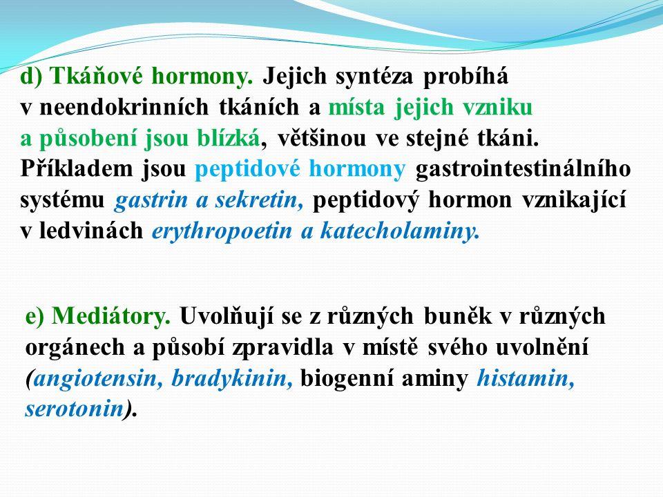 d) Tkáňové hormony.