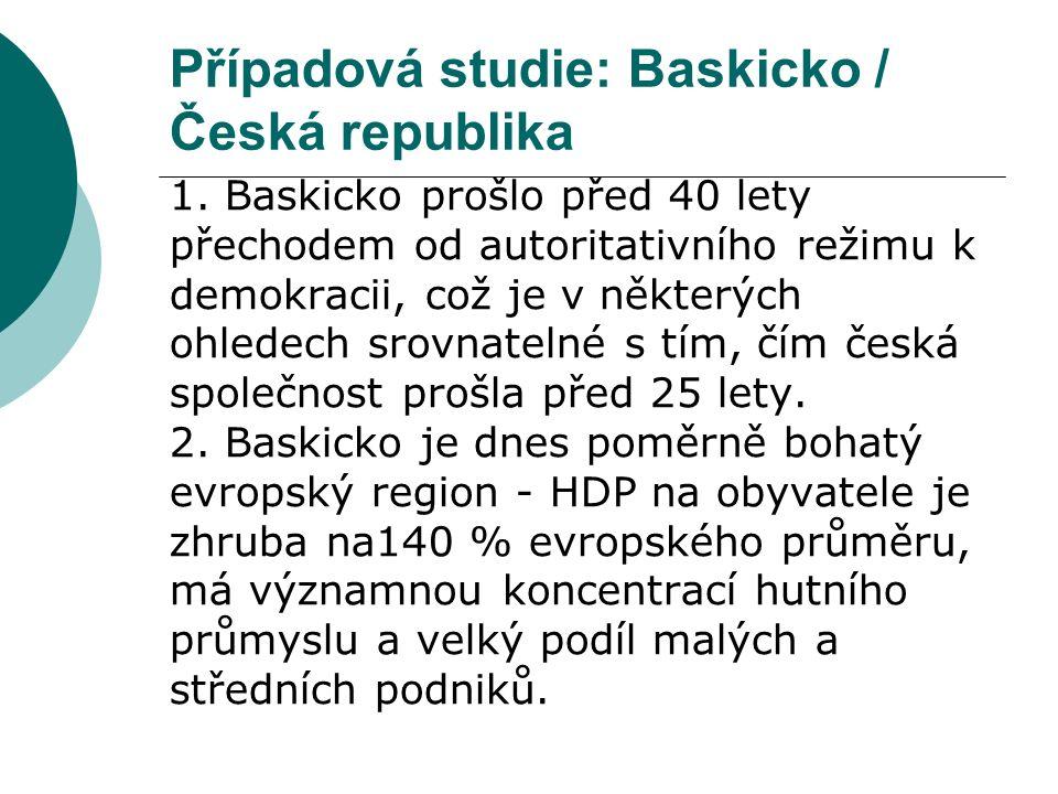 Případová studie: Baskicko / Česká republika 1.