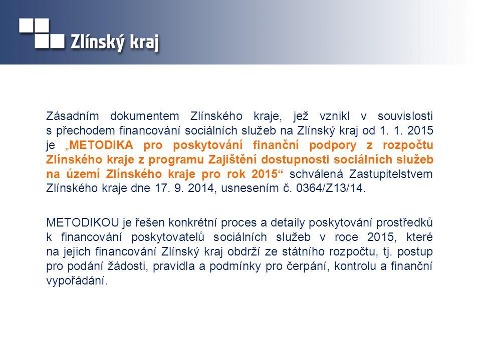 Zásadním dokumentem Zlínského kraje, jež vznikl v souvislosti s přechodem financování sociálních služeb na Zlínský kraj od 1.