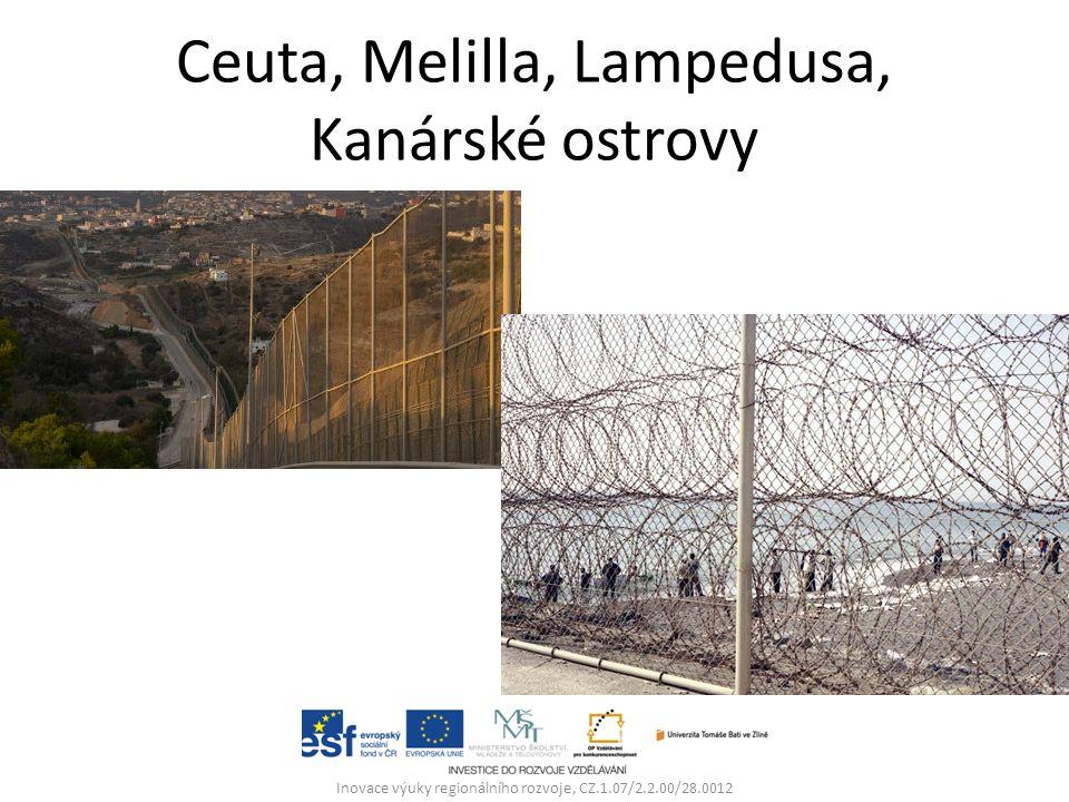 Ceuta, Melilla, Lampedusa, Kanárské ostrovy Inovace výuky regionálního rozvoje, CZ.1.07/2.2.00/28.0012