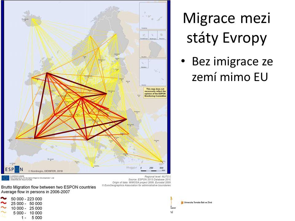 Migrace mezi státy Evropy Bez imigrace ze zemí mimo EU