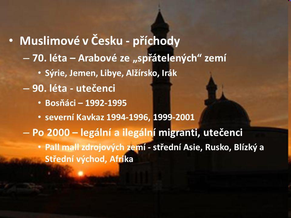 Muslimové v Česku - příchody – 70.