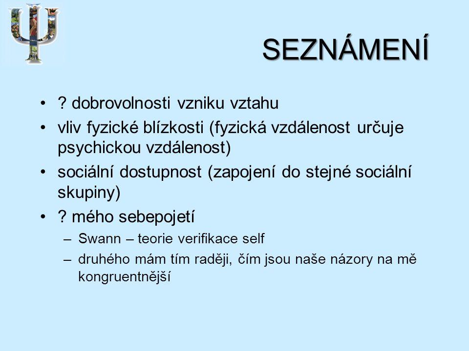 UTVÁŘENÍ VZTAHU teorie sociální penetrace – I.Altman, D.
