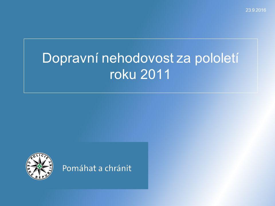 23.9.2016 Dopravní nehodovost za pololetí roku 2011