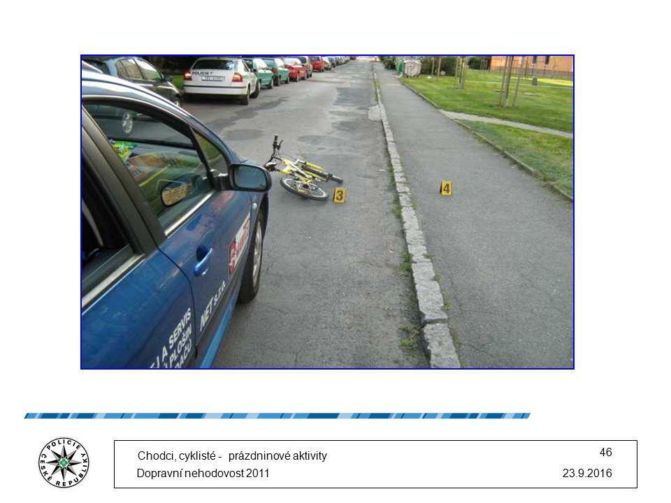 23.9.2016Dopravní nehodovost 2011 46 Chodci, cyklisté - prázdninové aktivity