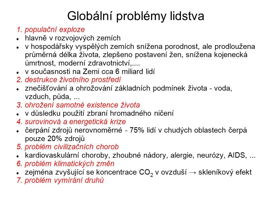 Globální problémy lidstva 1.