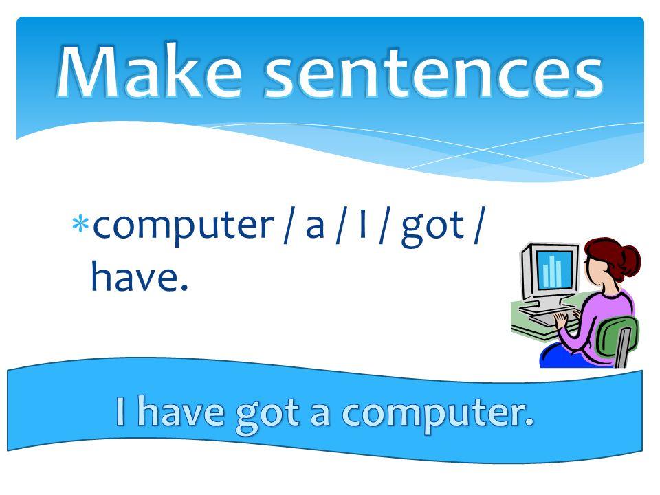 computer / a / I / got / have.