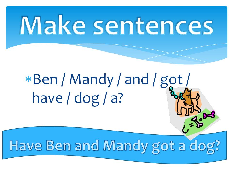  Ben / Mandy / and / got / have / dog / a