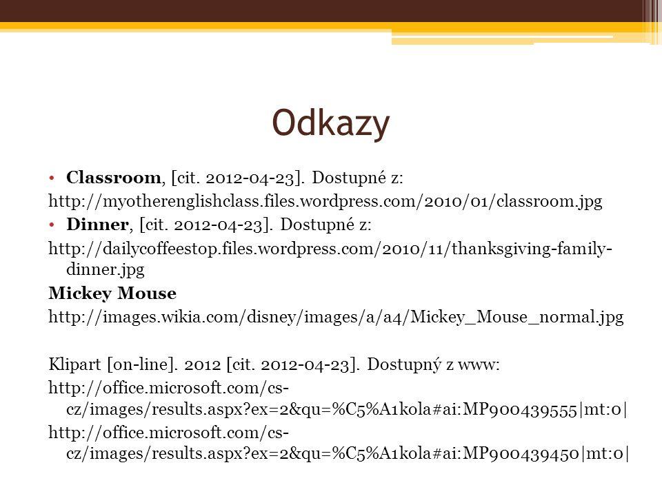 Odkazy Classroom, [cit.2012-04-23].