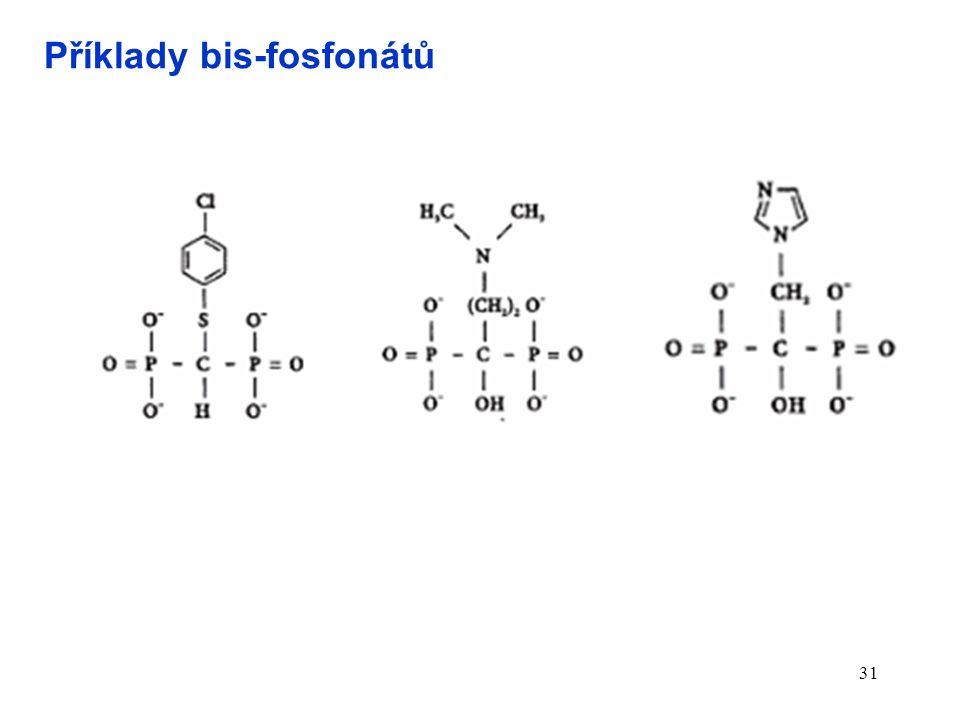 31 Příklady bis-fosfonátů
