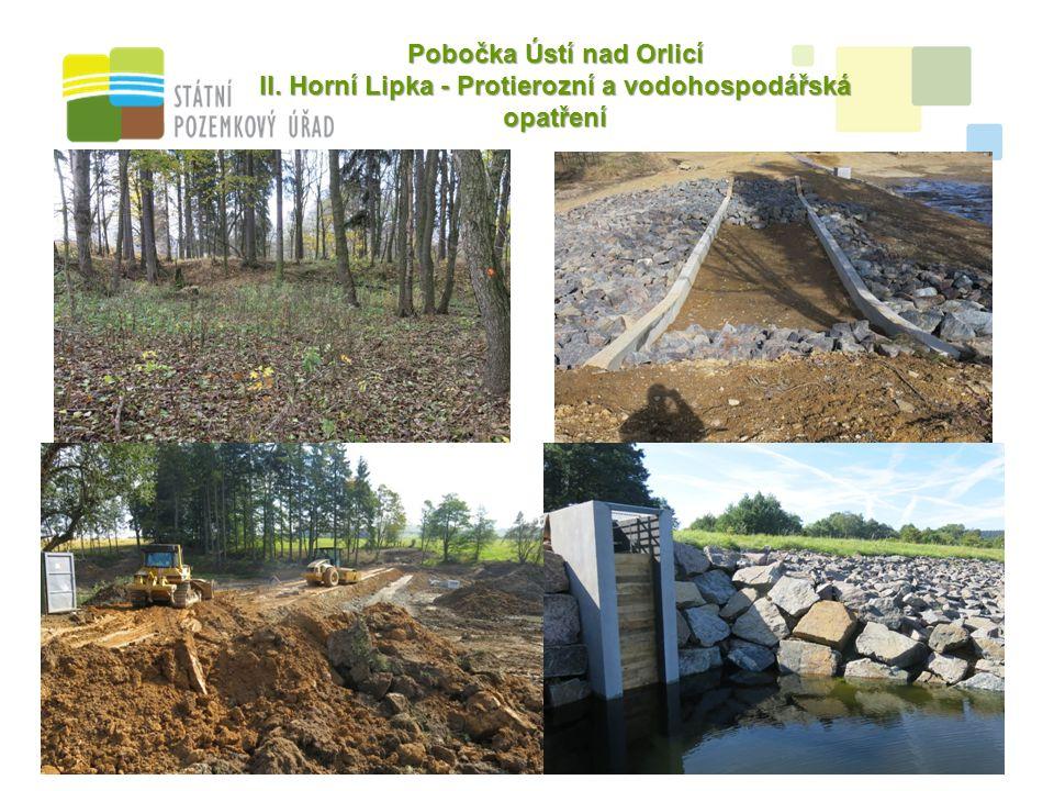 9 Pobočka Ústí nad Orlicí II. Horní Lipka - Protierozní a vodohospodářská opatření