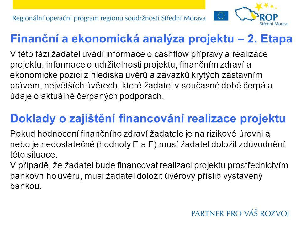 Finanční a ekonomická analýza projektu – 2.