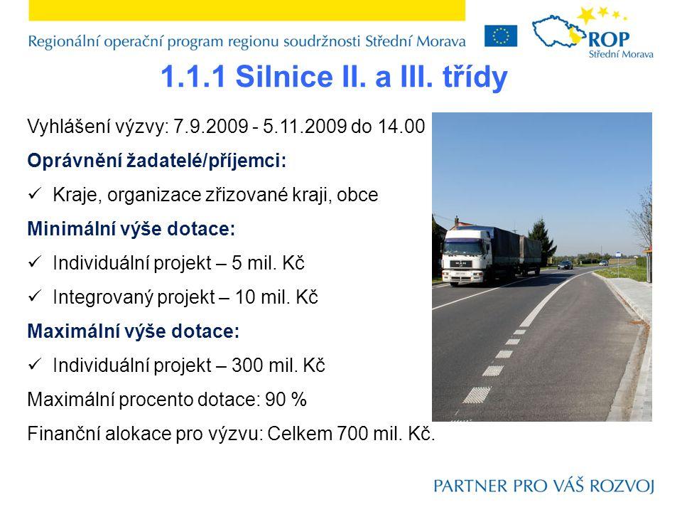 1.1.1 Silnice II. a III.