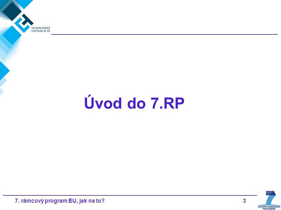37. rámcový program EU, jak na to? Úvod do 7.RP