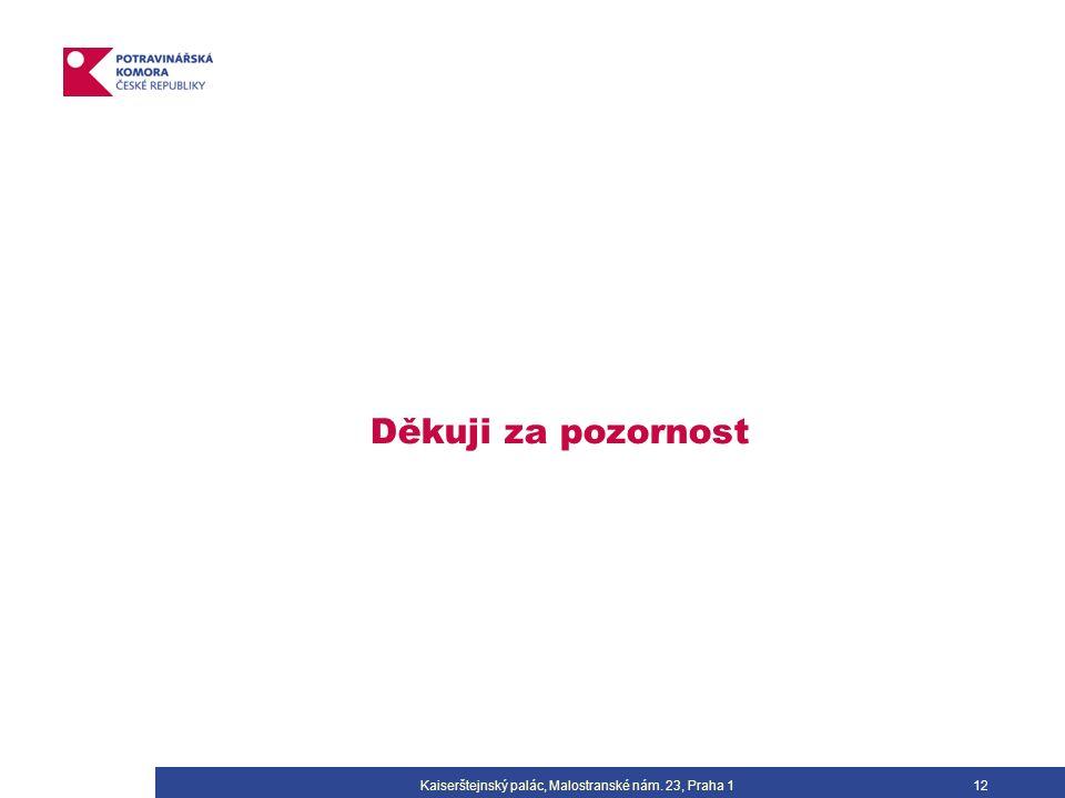 Děkuji za pozornost Kaiserštejnský palác, Malostranské nám. 23, Praha 112
