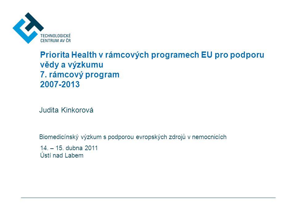 Priorita Health v rámcových programech EU pro podporu vědy a výzkumu 7.