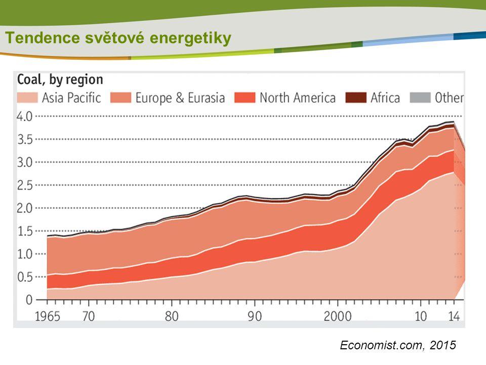 Tendence světové energetiky Economist.com, 2015