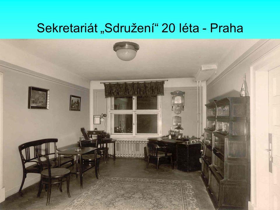 "Sekretariát ""Sdružení"" 20 léta - Praha"