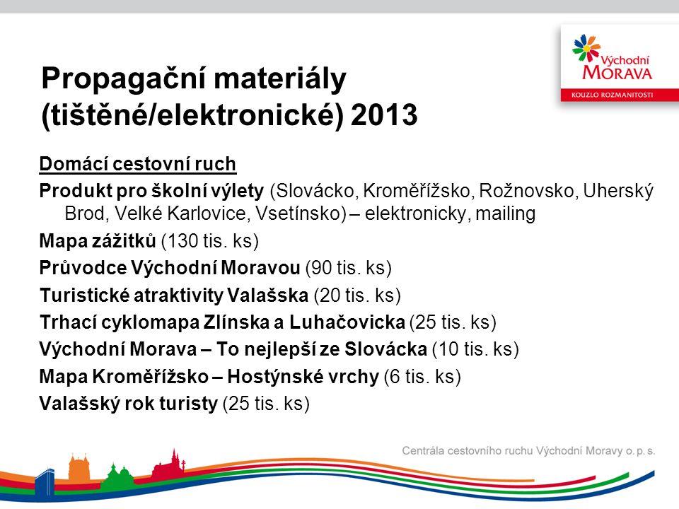 Co nás čeká v roce 2014 Pro B2B klientelu: vklad do odborného tisku ve vybraném odborném médiu v Polsku, Německu a Slovensku inzerci v odborném tisku nebo katalogu TO, CK či odborné asociace v uvedených zdrojových trzích distribuci produktové nabídky k CK a to mailem v minimálním rozsahu 30 CK v každém zdrojovém trhu distribuci produktových letáků poštou k minimálně 20 CK ve všech uvedených zdrojových trzích.