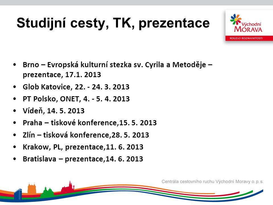 Studijní cesty, TK, prezentace Brno – Evropská kulturní stezka sv.