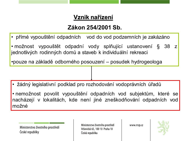 § 15a Ohlášení vodních děl a vodohospodářských úprav ohlášení postačí u vodních děl určených pro čištění městských odpadních vod do kapacity 50EO jejichž podstatnou součástí je výrobek CE u takto ohlášeného vodního díla se považuje vypouštění odpadních vod za povolené i u ohlášení je nutné vyjádření osoby s odbornou způsobilostí kategorie výrobků CE stanoví § 38