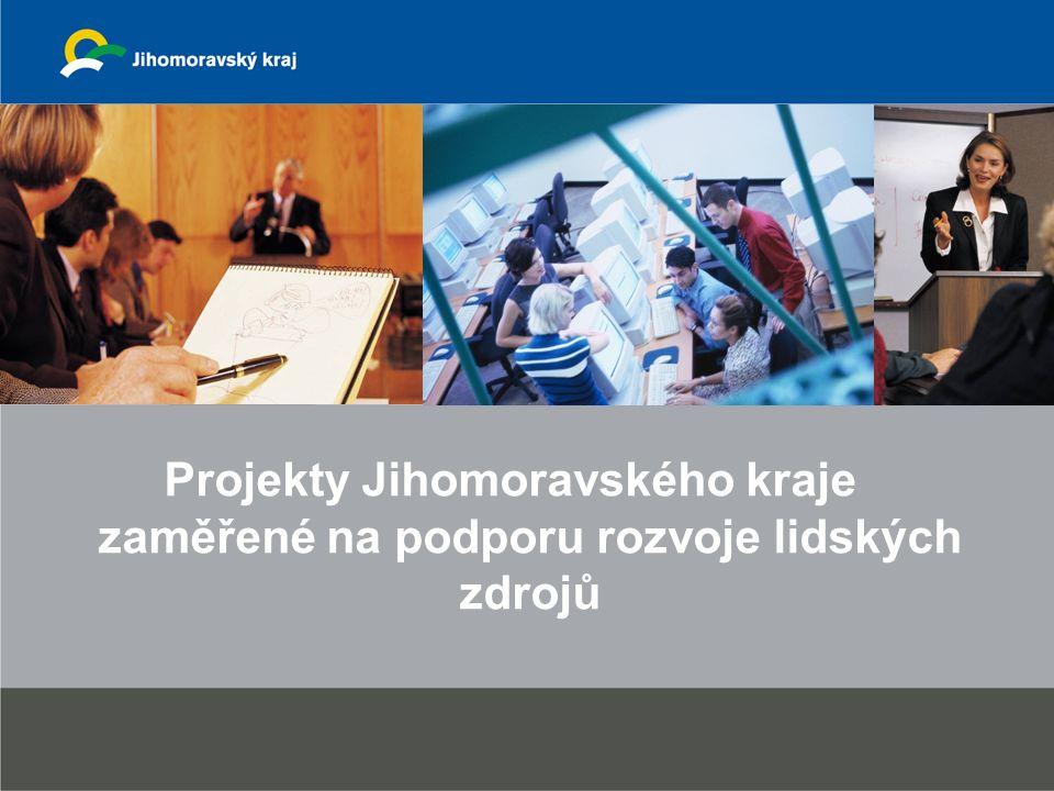 Projekty Jihomoravského kraje zaměřené na podporu rozvoje lidských zdrojů