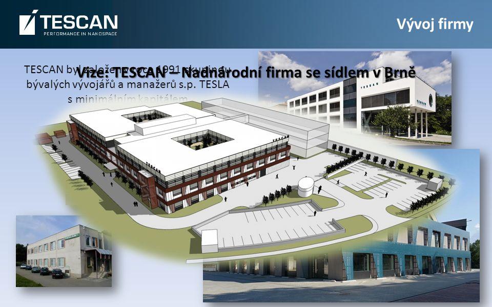 TESCAN byl založen v roce 1991 skupinou bývalých vývojářů a manažerů s.p.
