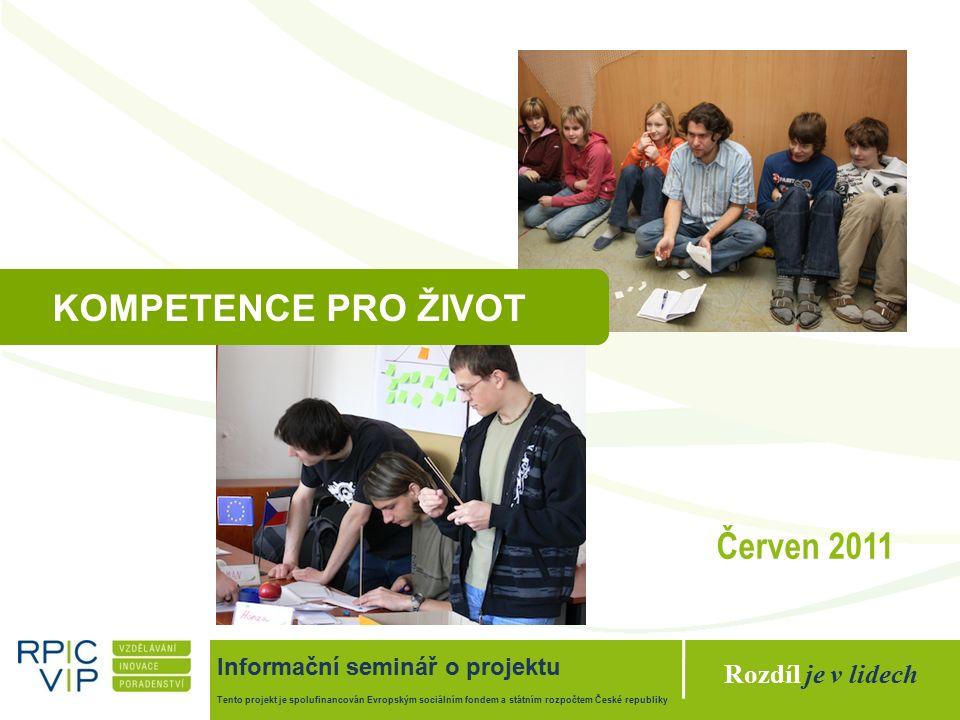"""Rozdíl je v lidech Projekt """"Kompetence pro život Tento projekt je spolufinancován Evropským sociálním fondem a státním rozpočtem České republiky Přenositelné dovednosti 2020 Dovednosti Měkké dovednost Flexibilita (90.1 %) Komunikace (82.1 %) Intrakulturální dovednosti (67.8 %) Obecné dovednosti ICT dovednosti (80.6 %) Cizí jazyky (66.8 %) 18 sektorových studií EU Kompetence, jejichž význam do budoucnosti výrazně poroste."""