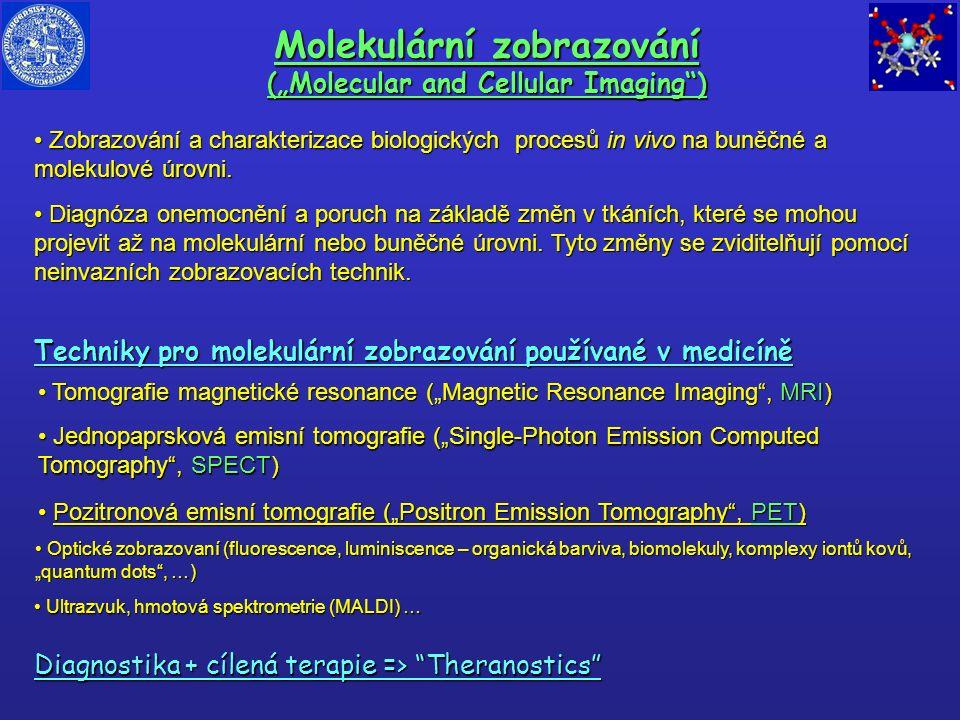 """Molekulární zobrazování (""""Molecular and Cellular Imaging"""") Zobrazování a charakterizace biologických procesů in vivo na buněčné a molekulové úrovni. Z"""