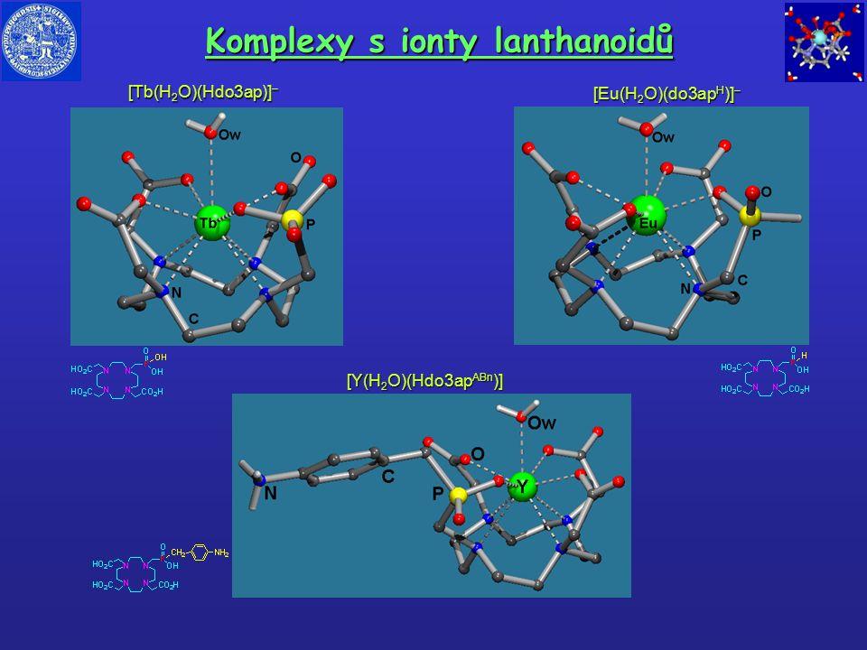 Komplexy s ionty lanthanoidů [Y(H 2 O)(Hdo3ap ABn )] [Tb(H 2 O)(Hdo3ap)] – [Eu(H 2 O)(do3ap H )] –