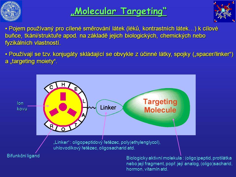 """""""Molecular Targeting"""" Pojem používaný pro cílené směrování látek (léků, kontrastních látek…) k cílové buňce, tkáni/struktuře apod. na základě jejich b"""