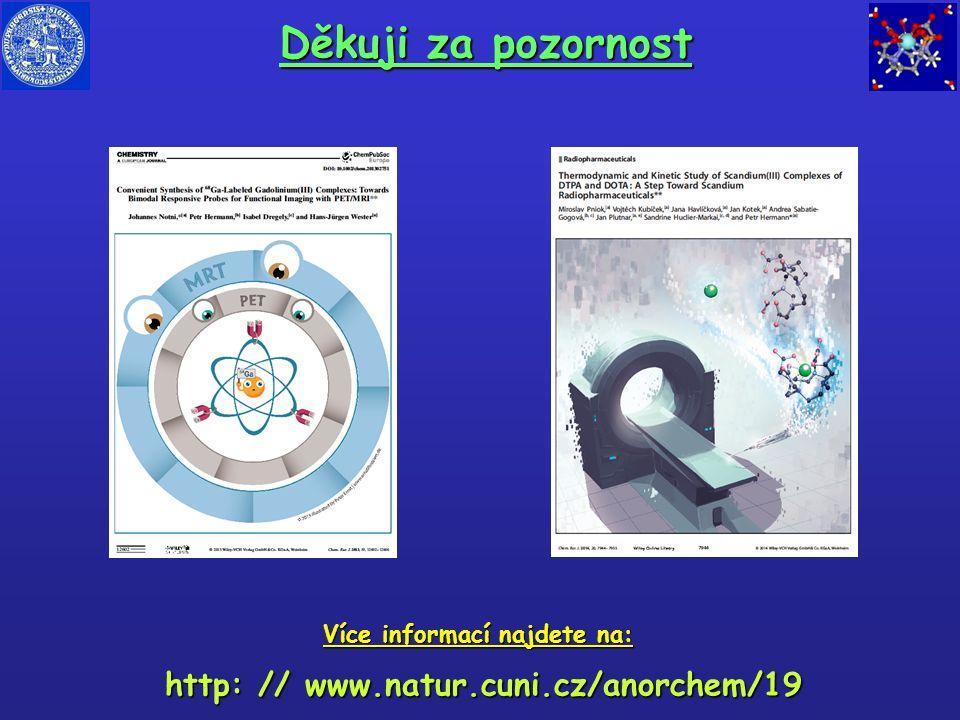 Děkuji za pozornost http: // www.natur.cuni.cz/anorchem/19 Více informací najdete na: