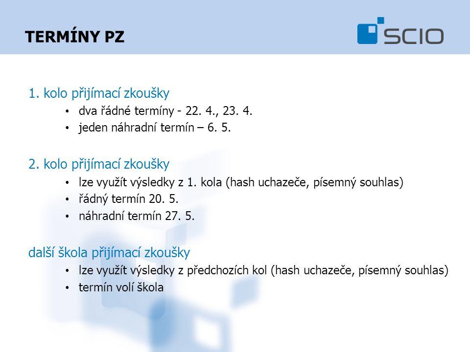 TERMÍNY PZ 1. kolo přijímací zkoušky dva řádné termíny - 22.