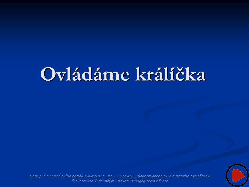 Ovládáme králíčka Dostupné z Metodického portálu www.rvp.cz, ISSN: 1802-4785, financovaného z ESF a státního rozpočtu ČR.