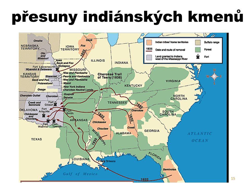 přesuny indiánských kmenů 15