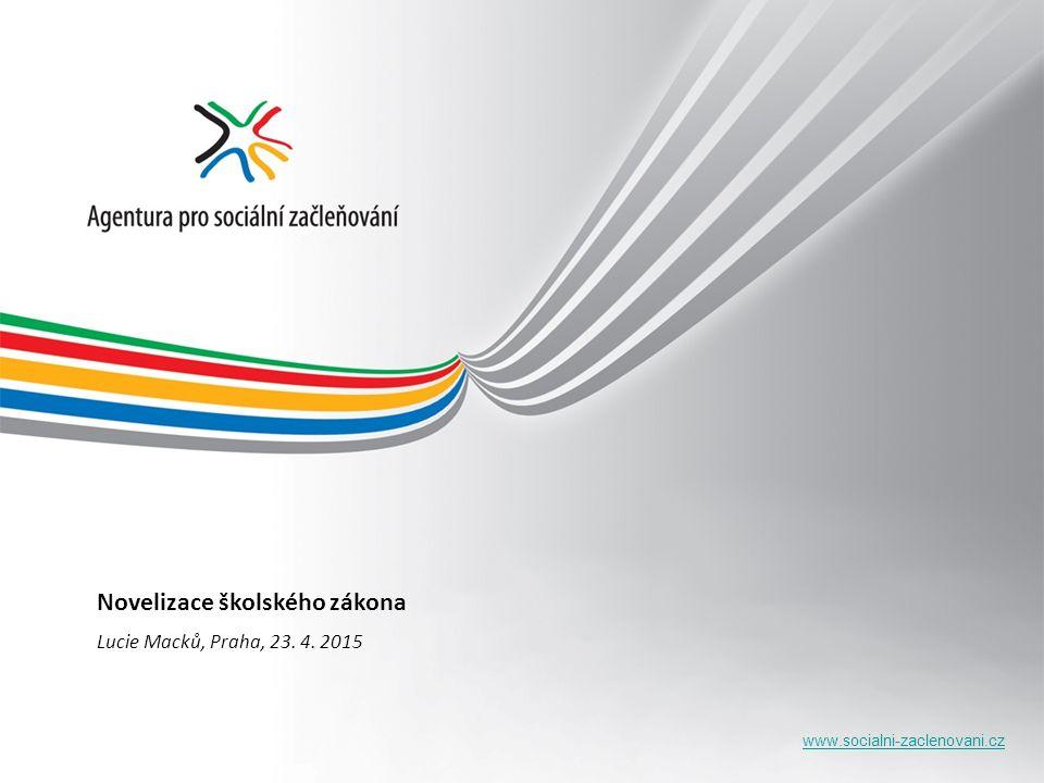 www.socialni-zaclenovani.cz Novelizace školského zákona Lucie Macků, Praha, 23. 4. 2015