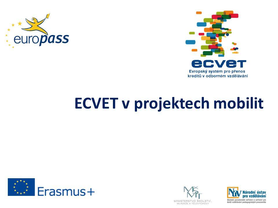 ECVET v projektech mobilit