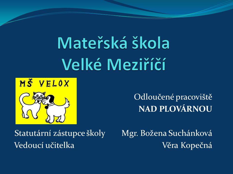 Odloučené pracoviště NAD PLOVÁRNOU Statutární zástupce školy Mgr.