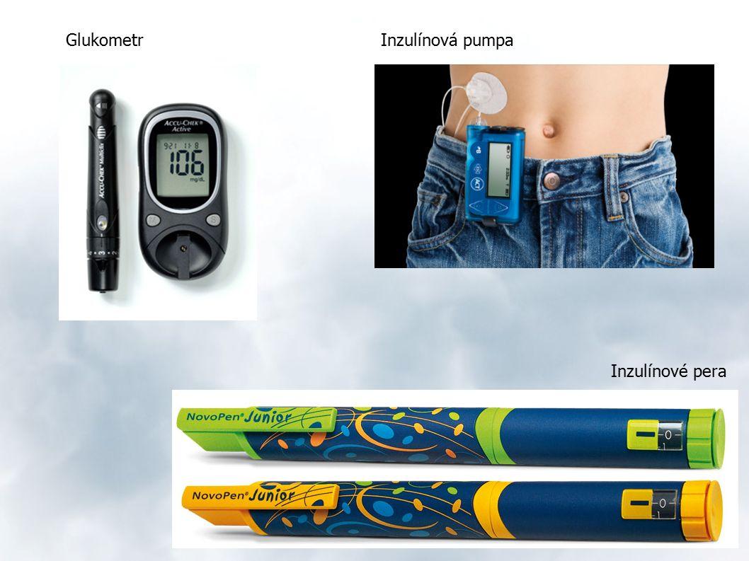 Inzulínové pera GlukometrInzulínová pumpa