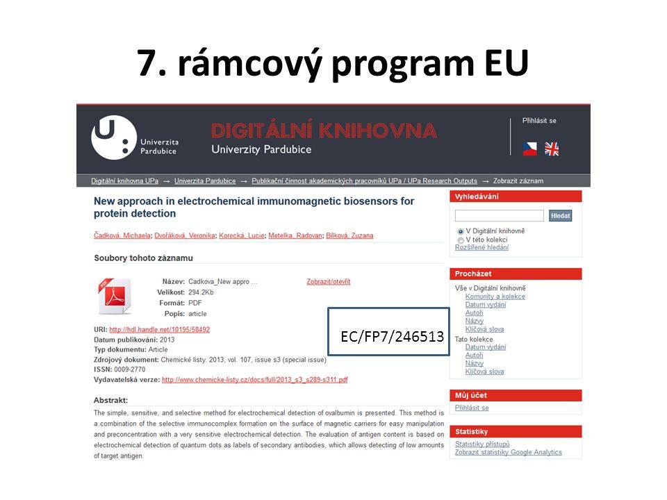 7. rámcový program EU EC/FP7/246513