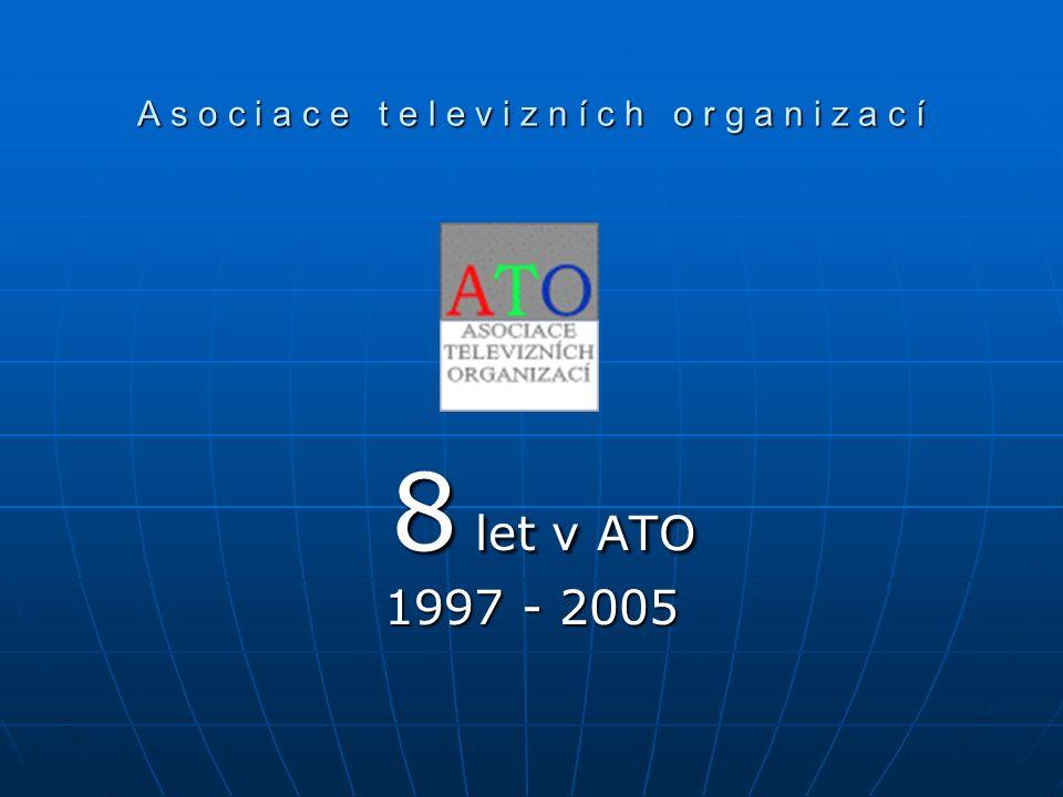 A s o c i a c e t e l e v i z n í c h o r g a n i z a c í 8 let v ATO 8 let v ATO 1997 - 2005