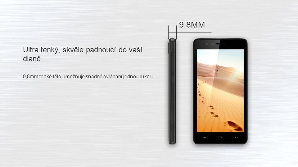 5palcová obrazovka 5palcová obrazovka s rozlišením FWVGA umožňuje širší úhel pozorování a čitelnost textu