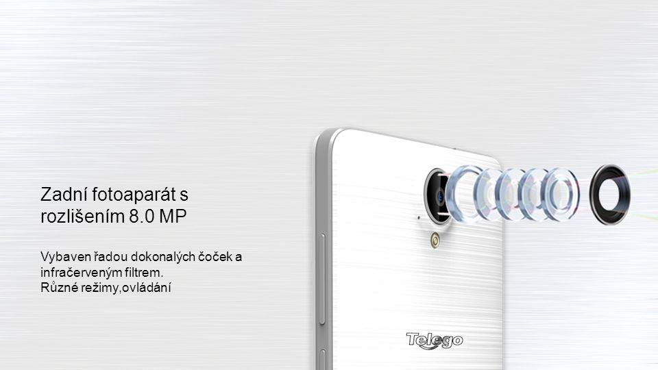 Přední fotoaparát s rozlišením 2.0 MP Ideální pro tvorbu kvalitních selfie fotografií.
